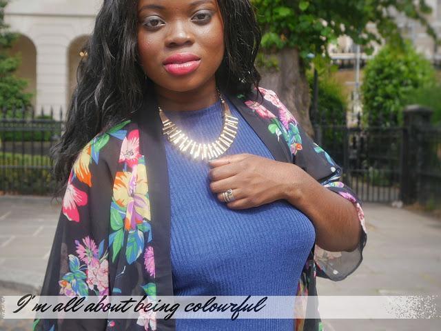 EBAY KIMONO, PRIMARK RIBBED MINI DRESS AND H &M GOLD NECKLACE