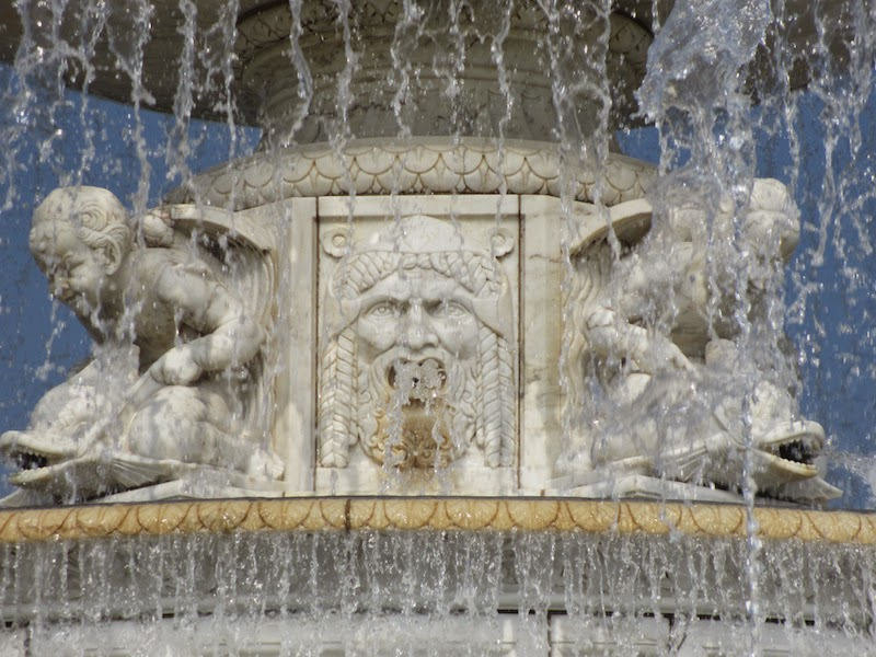 Close up of the Scott Fountain on Belle Isle in Detroit