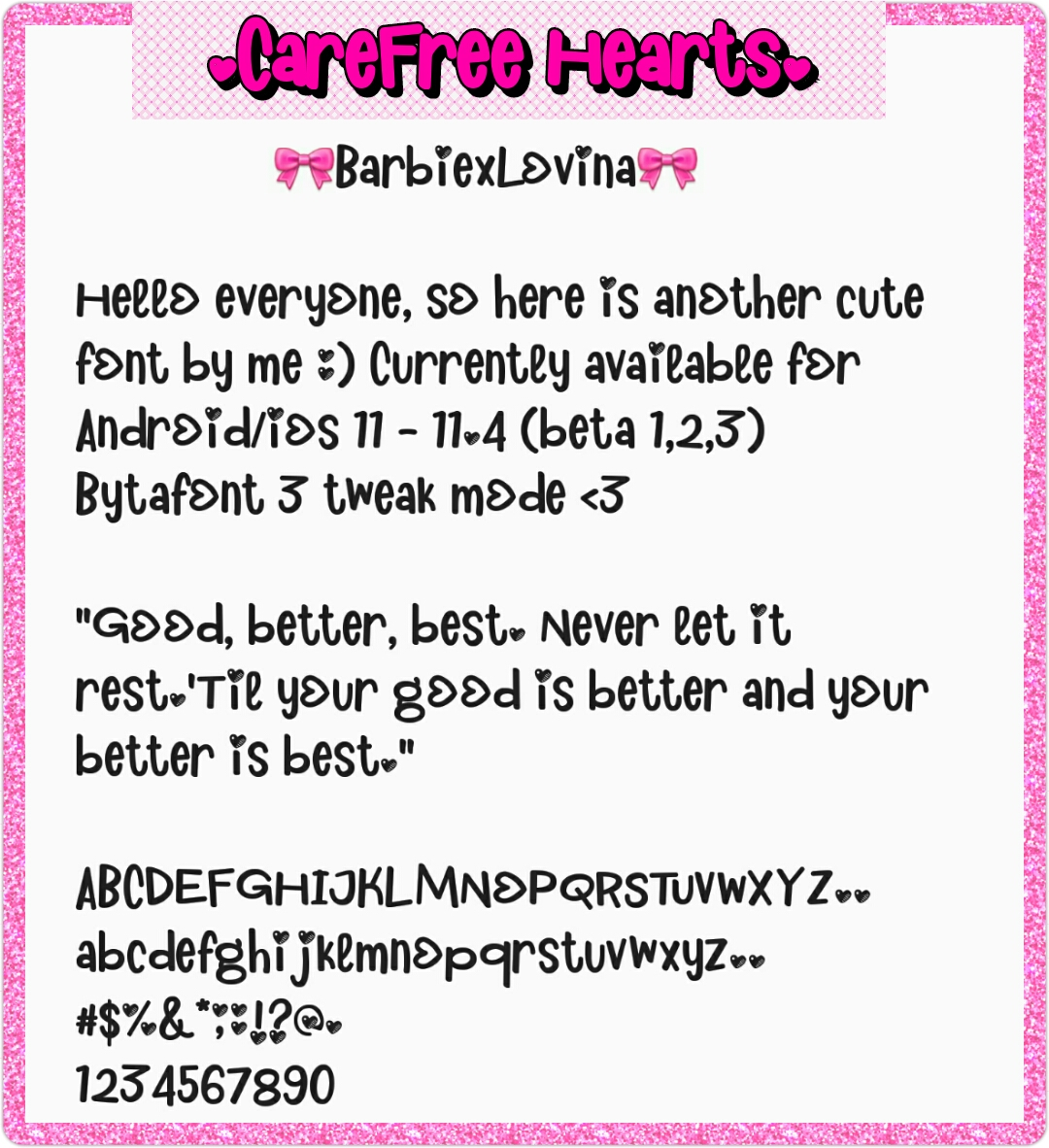 How To Use Bytafont 2 Girly Font