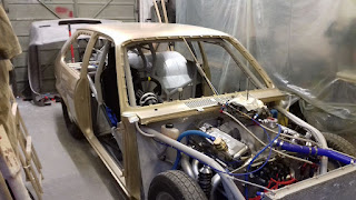 The Mini 1275GT gets paint!