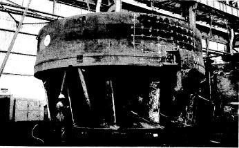 O primeiro rotor de Itaipu em fabricação na Voith. Foto: acervo O Estado de S.Paulo