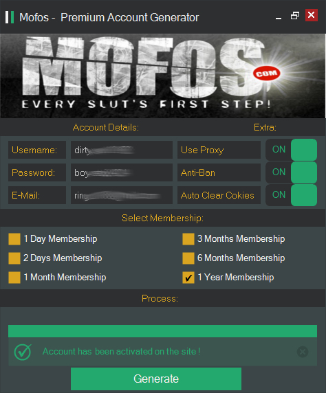 mofos premium account generator main screen