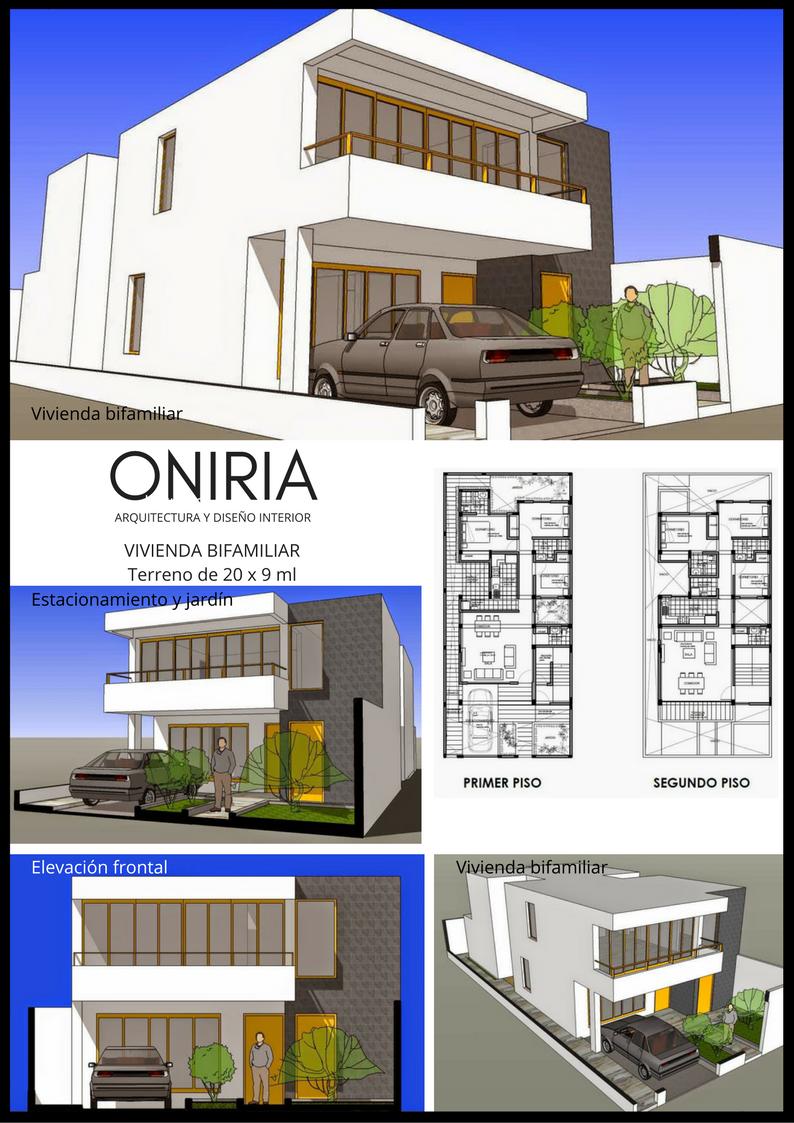 Oniria planos gratis de vivienda bifamiliar de dos pisos for Planos para viviendas