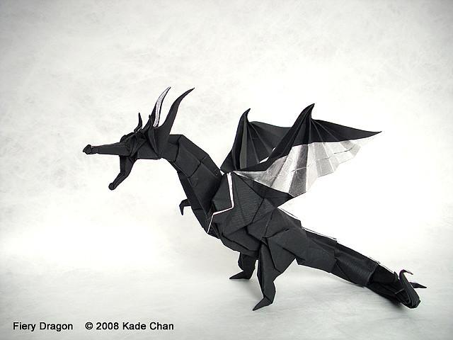 Kade Chan Origami Blog 香港摺紙工作室 (日誌): Fiery Dragon Origami Diagram Instructions on