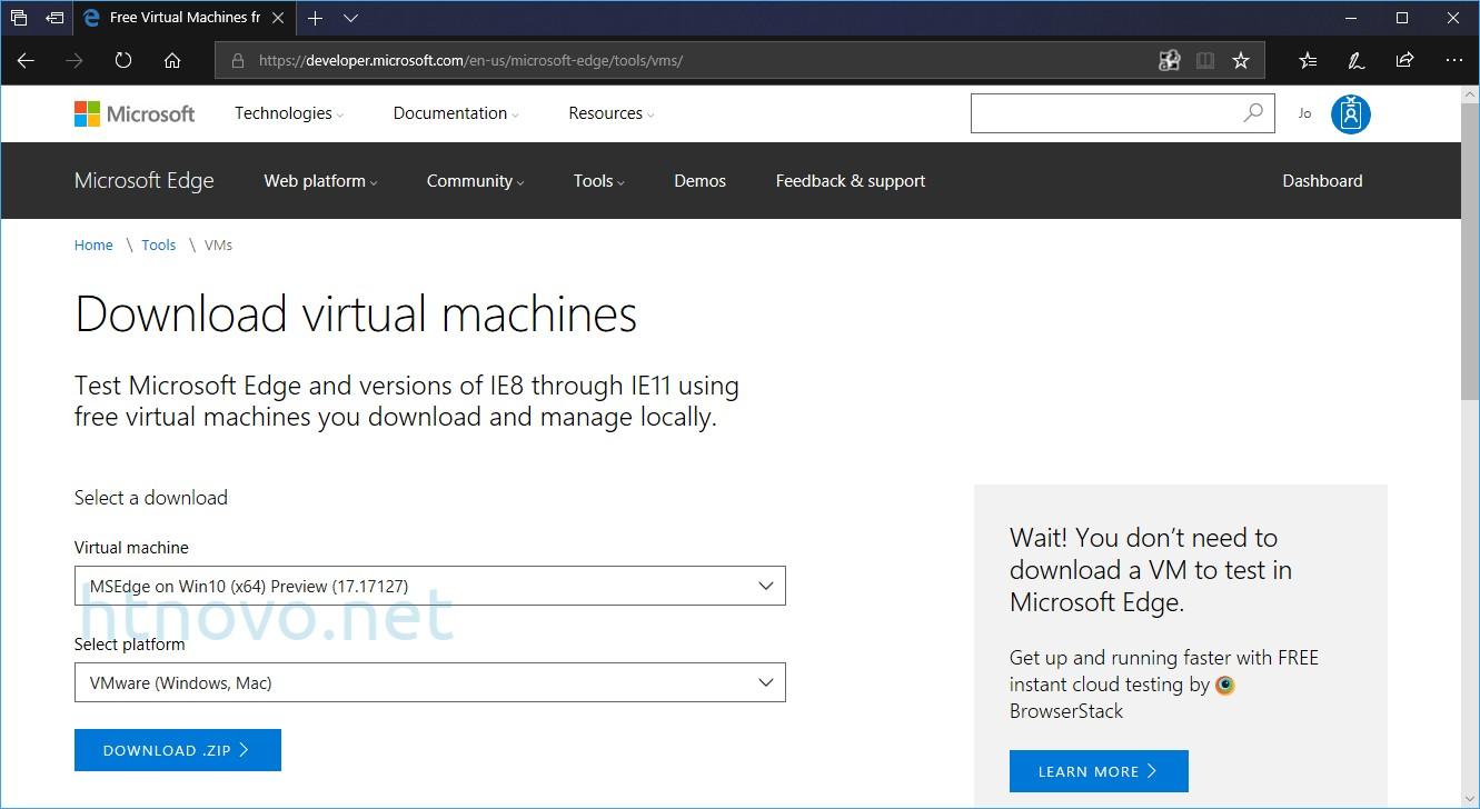Windows-10-v1803-Macchina-Virtuale-Microsoft