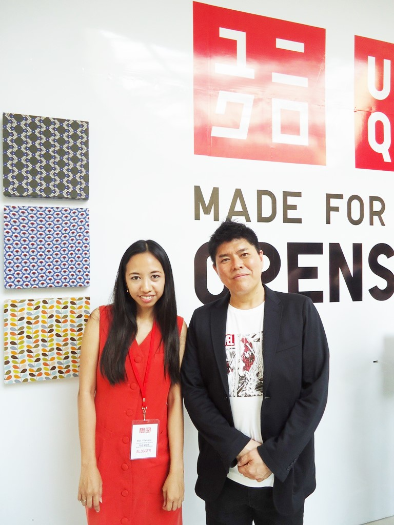 Blair Villanueva and Mr. Katsumi Kubota of UNIQLO Philippines