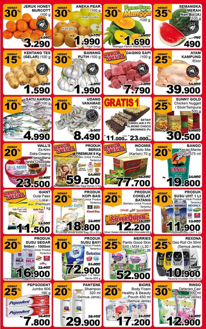 Giant - Promo Katalog Pesta Diskon Periode 26 - 28 Oktober 2018