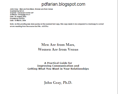 Download Man From Mars and Women From Venus Book For Free ...