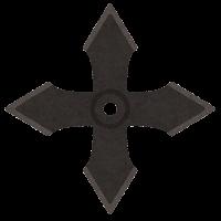 手裏剣のイラスト(十字型)