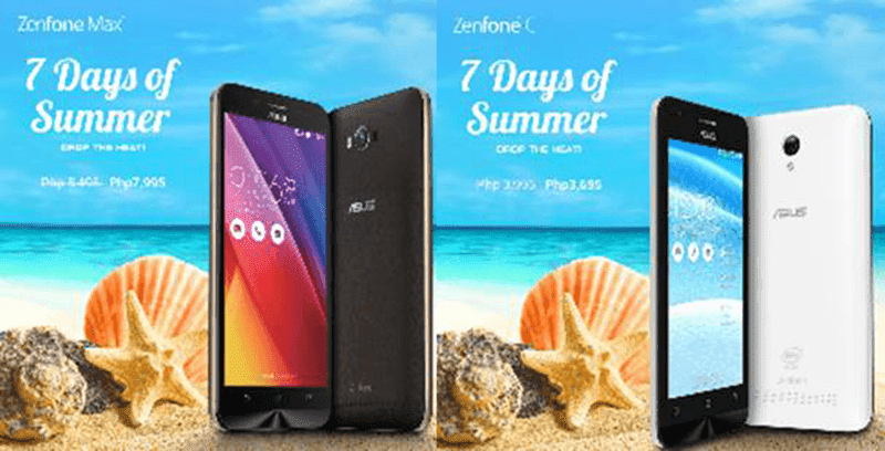 ZenFone Max and ZenFone C sale
