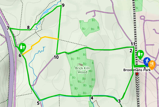 Map for Walk 3: The Water End Loop Created on Map Hub by Hertfordshire Walker Elements © Thunderforest © OpenStreetMap contributors Note: There is a larger, more detailed map embedded at the end of these directions