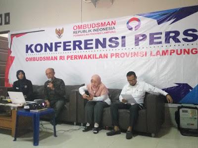 Ombudsman Lampung Ganjar Lima Kabupaten Dengan Rapor Merah