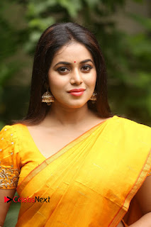 Poorna Pictures in Saree at Avanthika Movie Opening