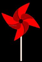 Catavento vermelho - autoria LacreMania
