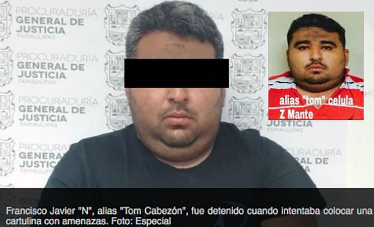 """DETIENEN """"ENCUERNADO"""" AL ZETA """"TOM EL CABEZON"""" CON GRANADA Y """"NARCOCARTULINA"""" EN VICTORIA"""