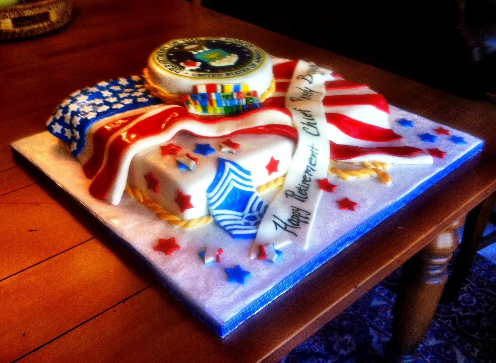Hush Hush Sweet Charlotte Cakes Airforce Retirement Cake
