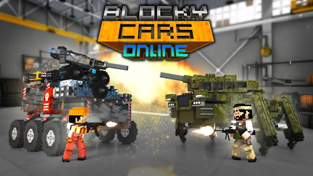 blocky cars online hile apk indir