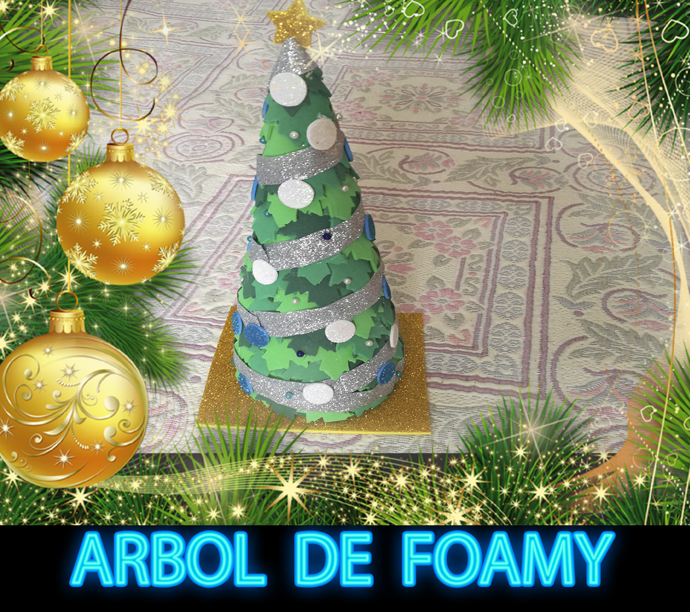 El rincon de angela diy como hacer un rbol de navidad - El rincon azul de angela ...