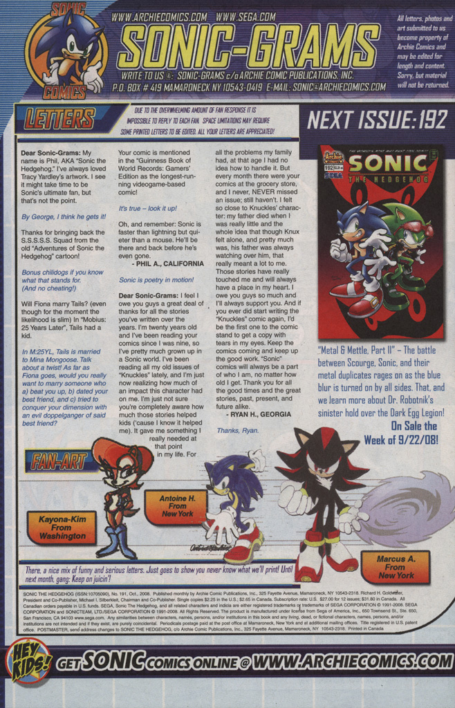 Read online Sonic The Hedgehog comic -  Issue #191 - 26