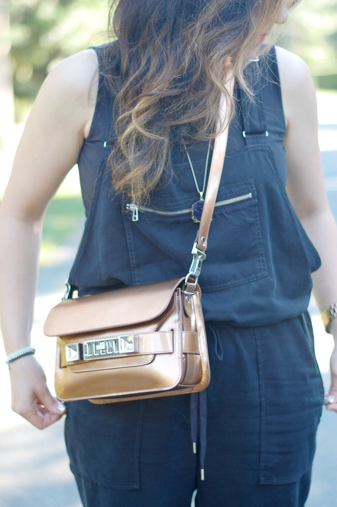 Bronze Proenza Schouler PS11 handbag outfit idea from Vancouver style blogger Covet and Acquire.