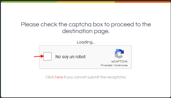 la vérification du captcha