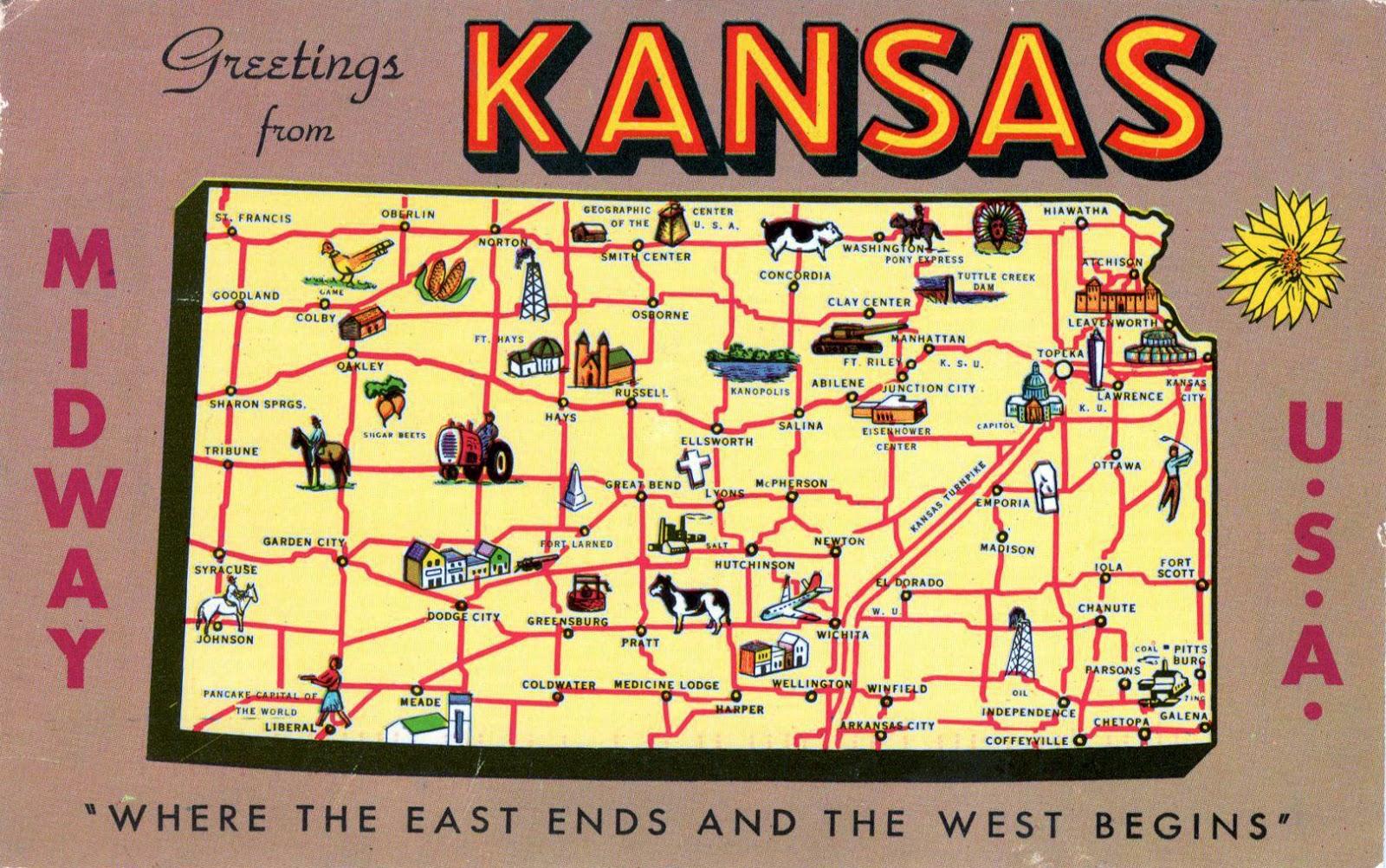 WORLD, COME TO MY HOME!: 2025 UNITED STATES (Kansas) - Kansas map