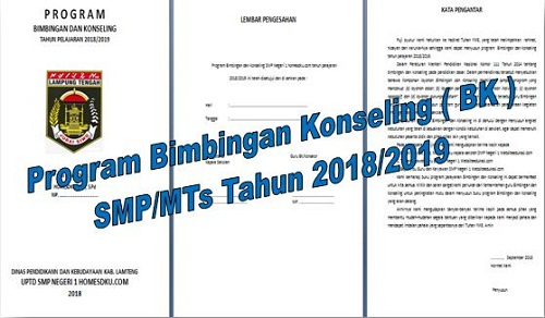 Program Bimbingan Konseling ( BK ) SMP/MTs Tahun 2018/2019