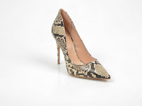 Pantofi ALDO gri, Cassedy, cu imprimeu de piele de sarpe