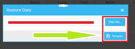 gambar cara restore aplikasi pmp