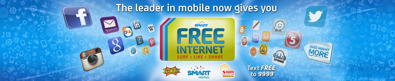 Free internet for Smart, Sun and Talk'N Text