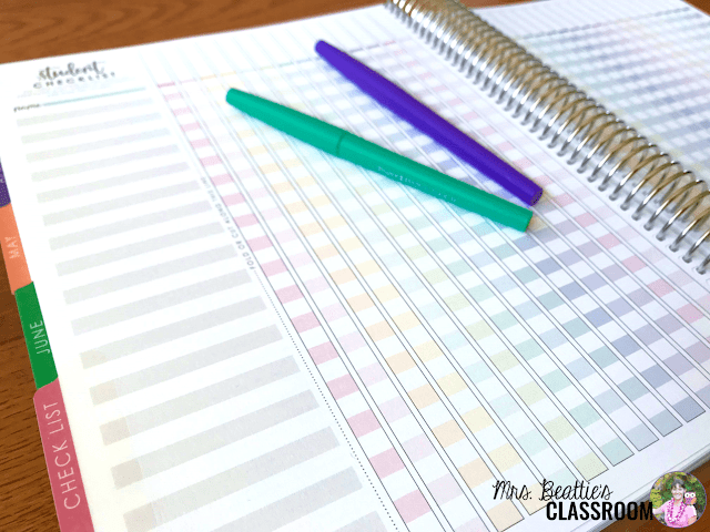 Photo of Erin Condren Teacher Planner student checklist