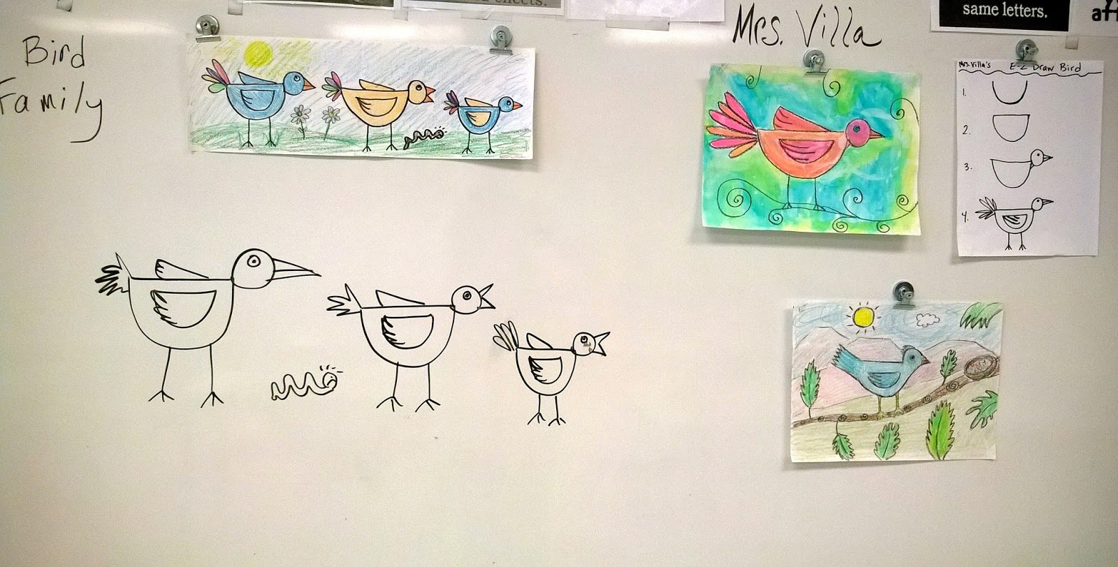 Angie Villa Art Education Easy Bird Family Lesson For Primary Grades