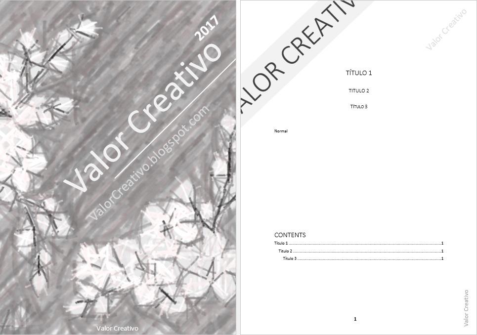 Valor Creativo: Plantilla Word - Enero y Febrero 2017