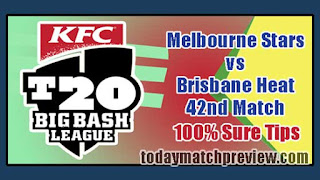 Today BBL 42nd Match Prediction Heat vs Star Dream 11 Team