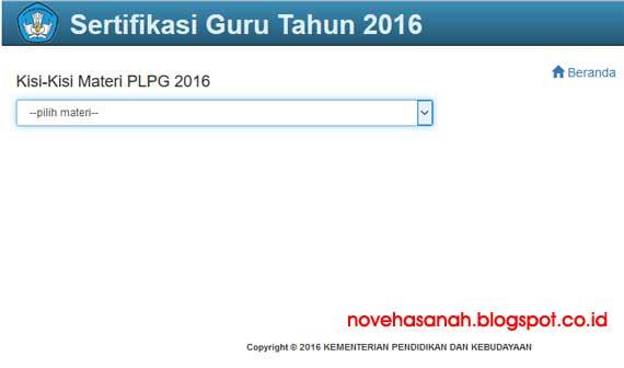 cara download mudah silakan download kisi-kisi materi PLPG Sertifikasi Guru tahun 2016 langsung dari situs resmi kemdikbud