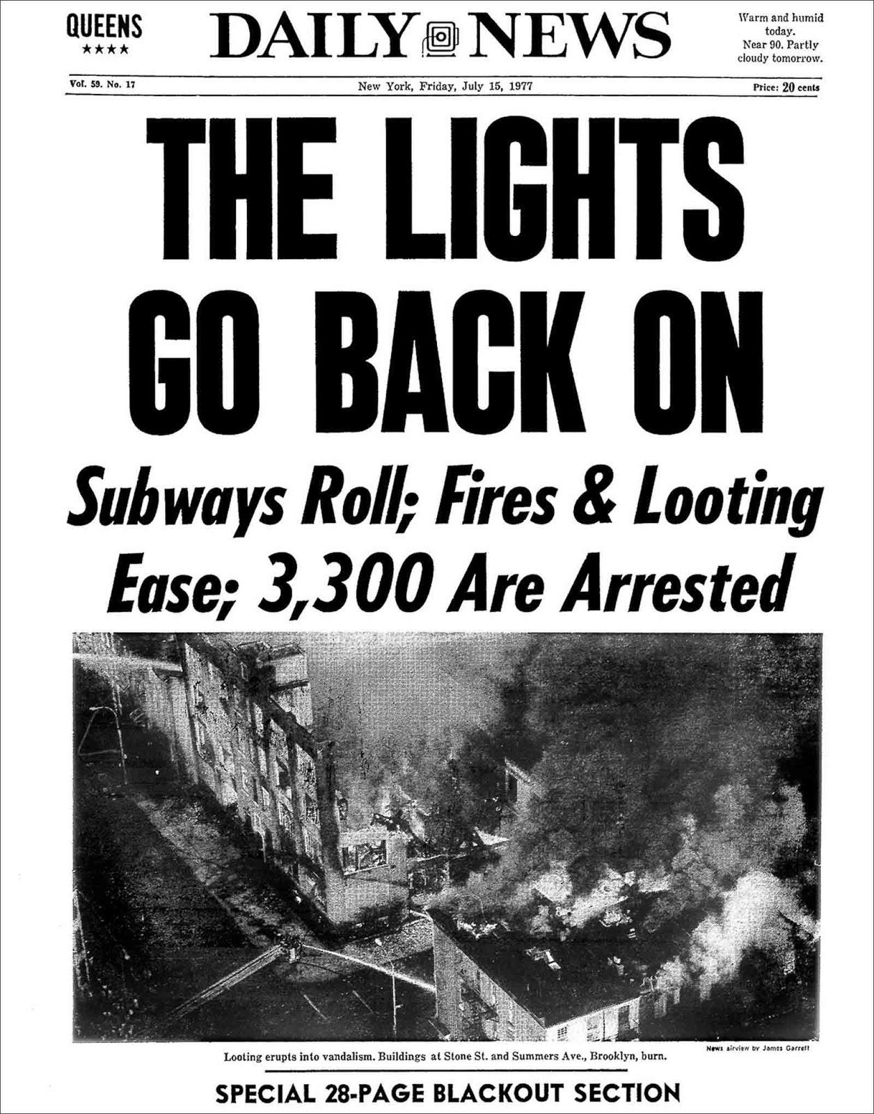 El infame apagón de la ciudad de Nueva York de 1977