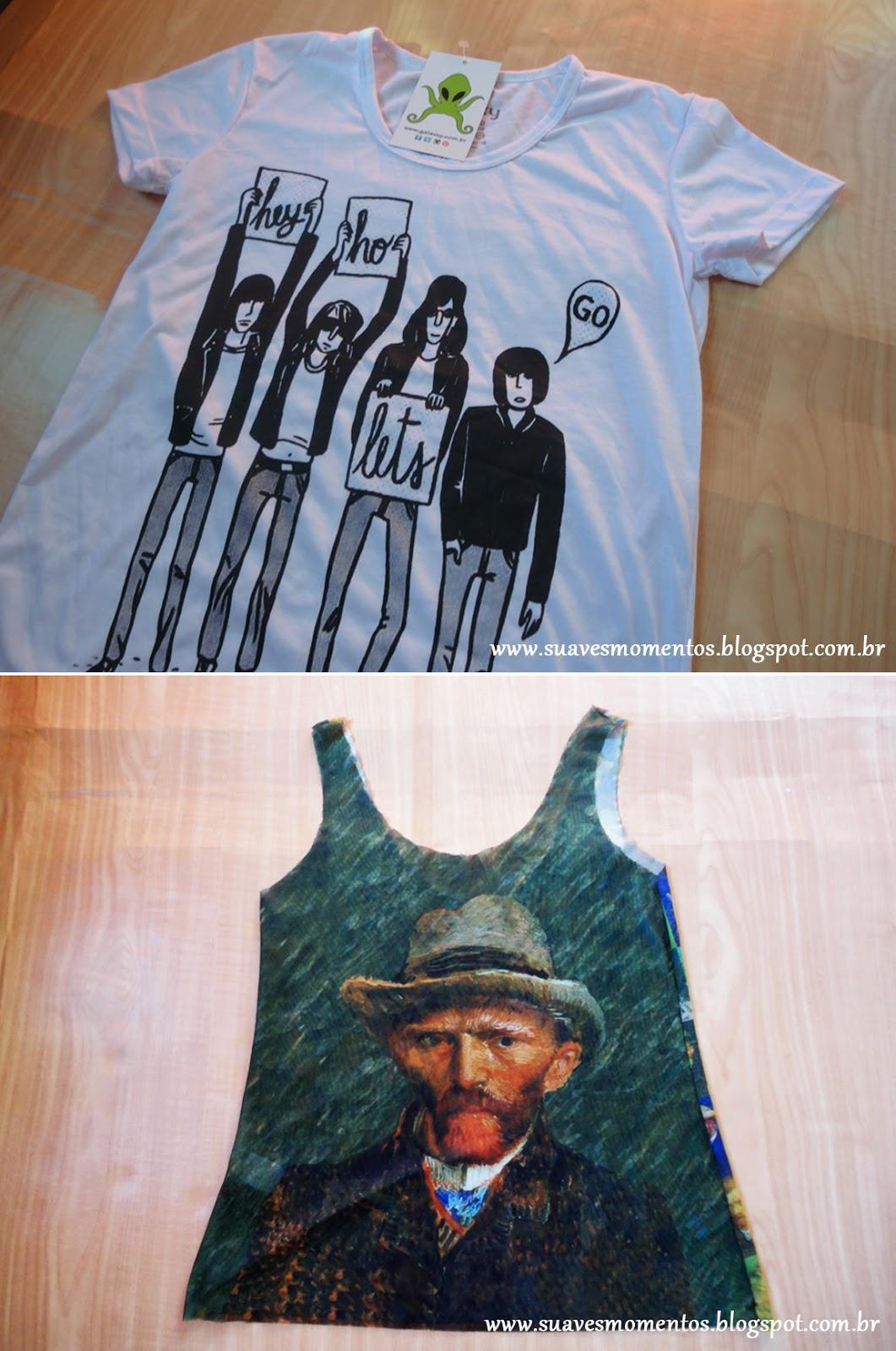 Blusa Ramones e blusa Van Gogh