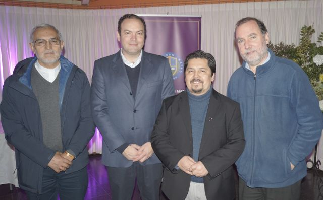 Jorge Concha, Alejandro Aguirre, padre Nelson Peña, padre Paul Mackenzie.