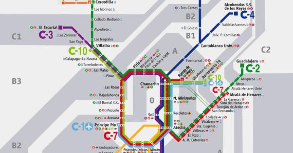 Mapa Cercanias Madrid 2017.Mapa De Lineas De Cercanias De Madrid Edicion Febrero 2018