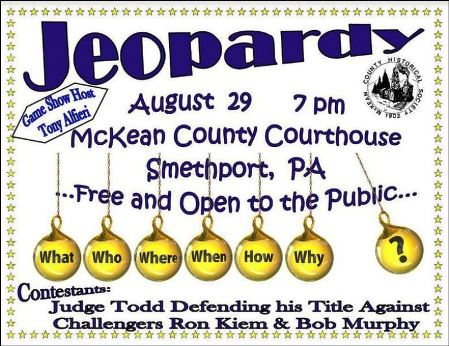 8-29 Jeopardy, McKean Co. Courthouse