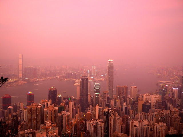 Sunset view from The Peak, Hong Kong