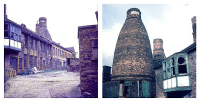Longton Bottle Ovens at Garfield Works, Uttoxeter Road, Longton, 1927 and 1939 ovens Photos: Terry Woolliscroft Collection  Date: early 1970s