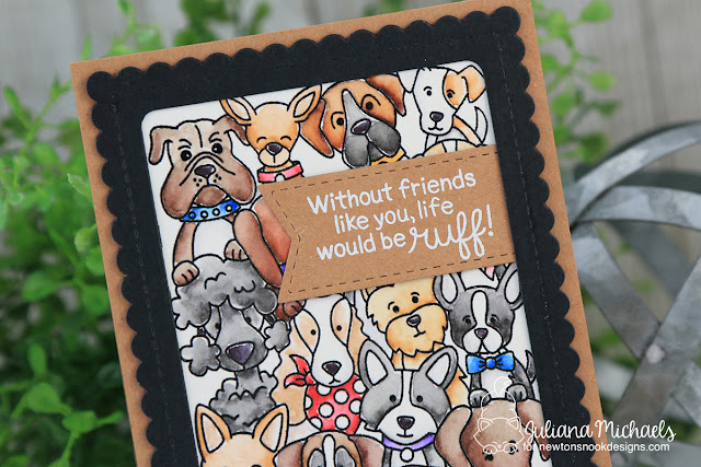 Friends Dog Card by Juliana Michaels featuring Newton's Nook Designs Woof Pack Stamp Set