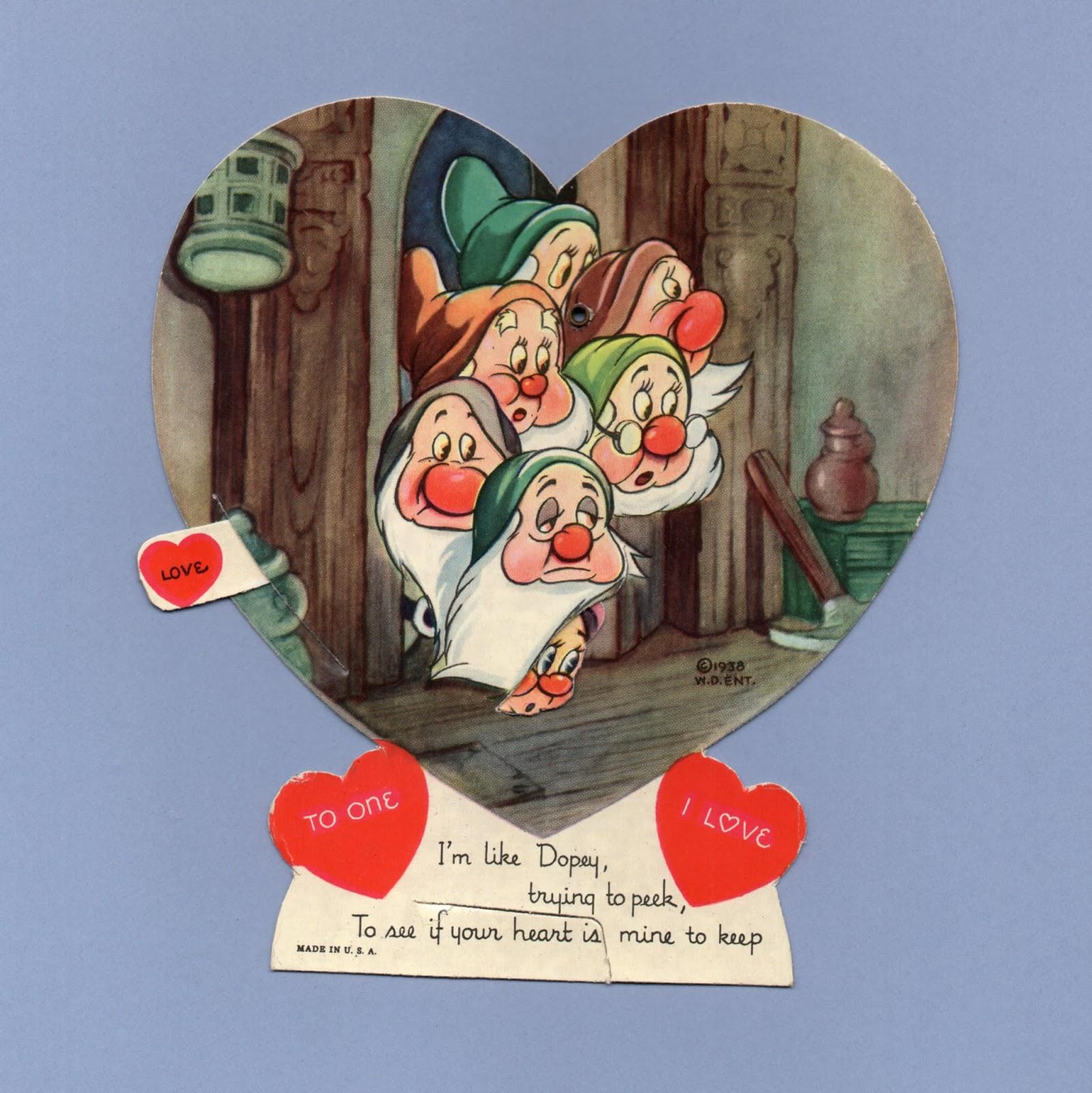 Vintage Valentine Museum Walt Disney Studios Cartoon Character