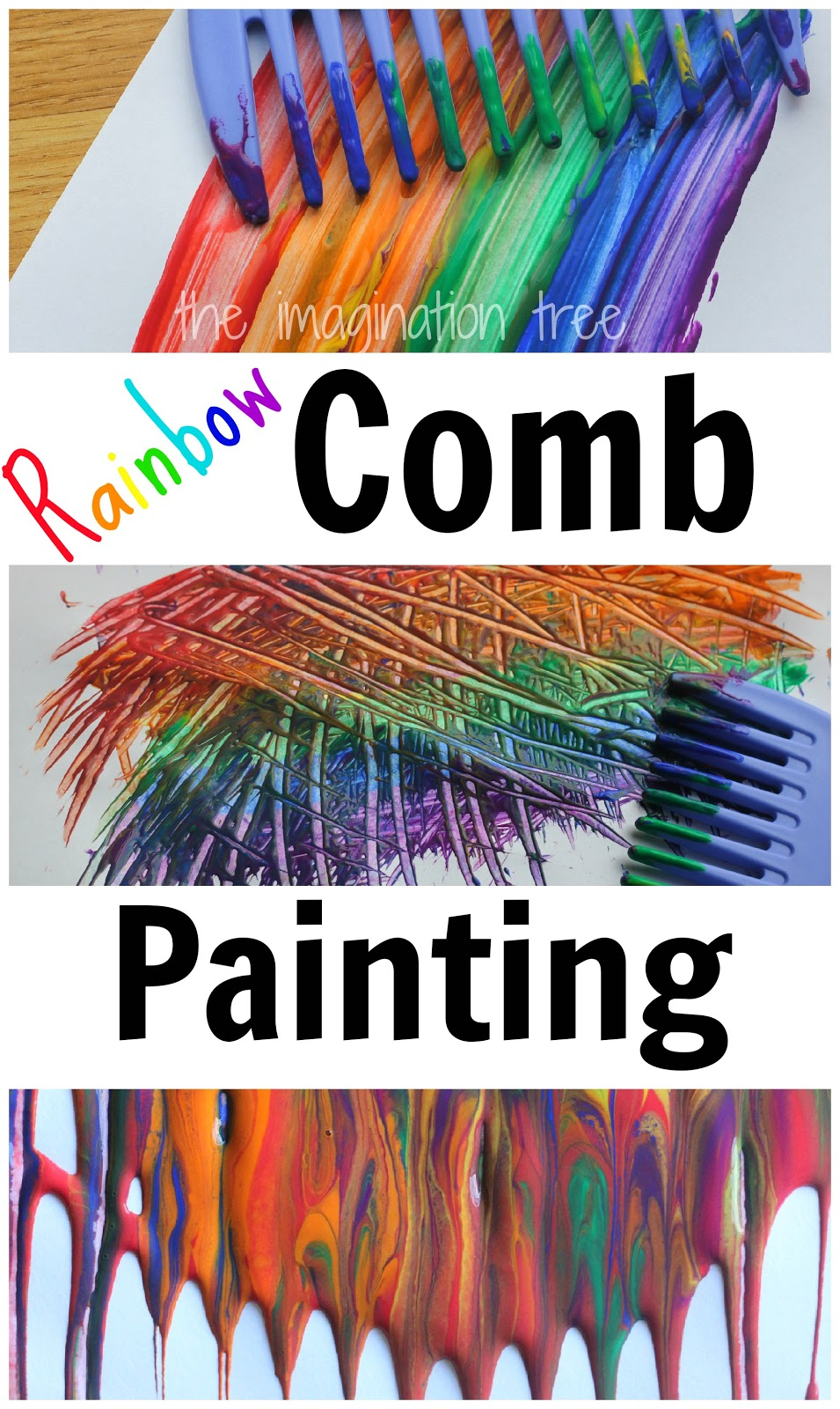 Rainbow Comb Paintings The Imagination Tree
