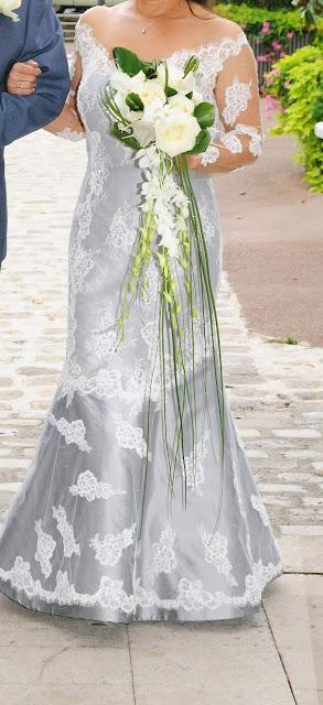 robe de mariée en dentelle couture sur mesure par créatrice à Versailles