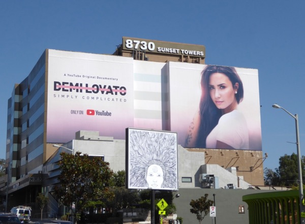 Giant Demi Lovato Simply Complicated YouTube billboard