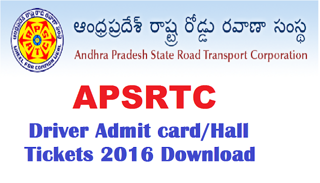 APSRTC (Andhra Pradesh Road Transport Corporation) Driver Admit Card 2016|Download Ap Conductor Exam Hall Ticket Call letter|APSRTC Driver Admit Card 2016|Download APSRTC Driver Admit Card 2016 Hall Ticket from www.apsrtc.gov.in site. /2016/08/apsrtc-driver-admit-card-2016-download-ap-conductor-exam--hall-ticket-call-letter.html