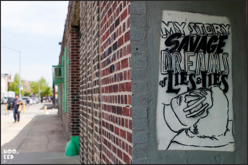 New York street art featuring stencil work by Brooklyn collective Faile.