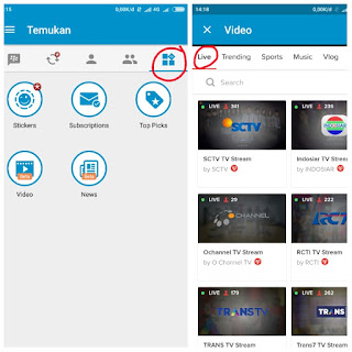 Tv streaming di bbm